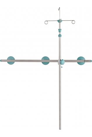 Стійка для крапельниці з регулюванням по висоті - рейкового типу