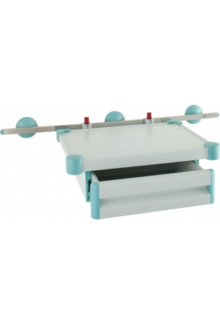 Полка для монітора з висувним ящиком - рейкового типу