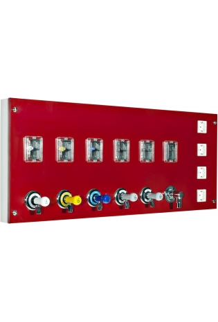 Модуль подачі газу з вентилями і електроустаткуванням